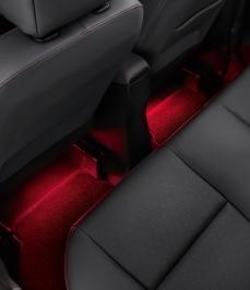 Підсвітка простору для ніг 2-й ряд (червоний колір)